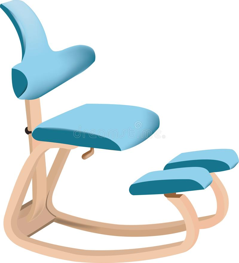 Seduta ergonomica illustrazione vettoriale. Illustrazione ...