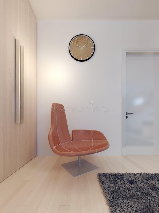 Sedia fissa dell 39 uovo in una camera da letto moderna immagine stock immagine di luce bedroom - Sedia camera da letto ...