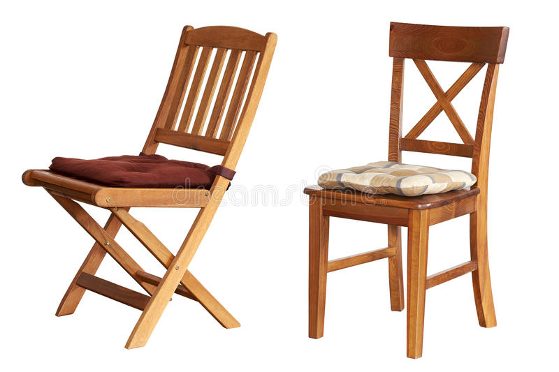 Sedia isolata su fondo bianco fotografia stock