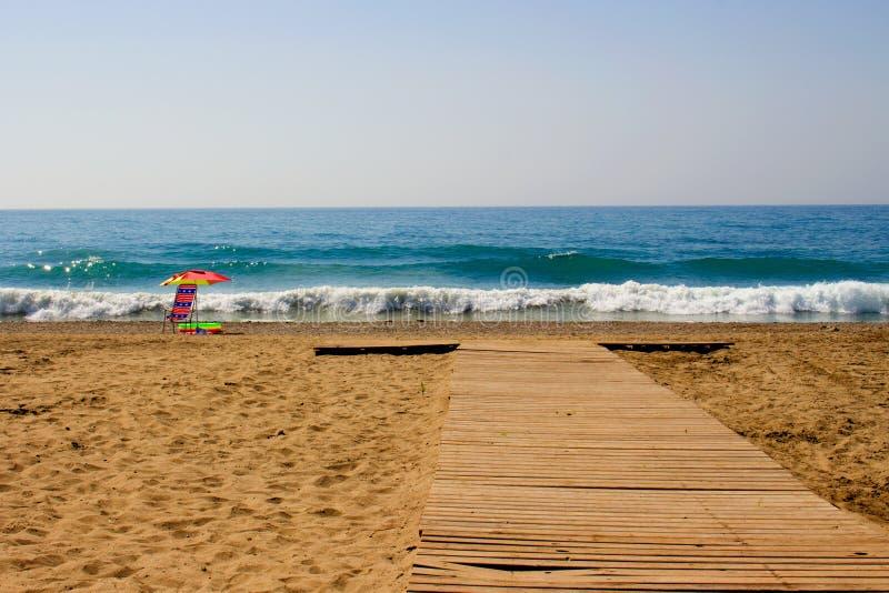 Sedia nella spiaggia fotografia stock libera da diritti