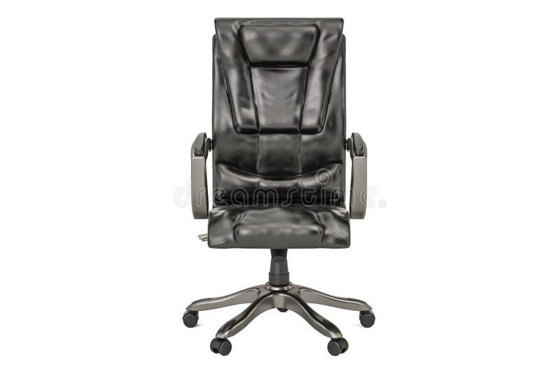 Sedia nera dell'ufficio, rappresentazione 3D illustrazione di stock