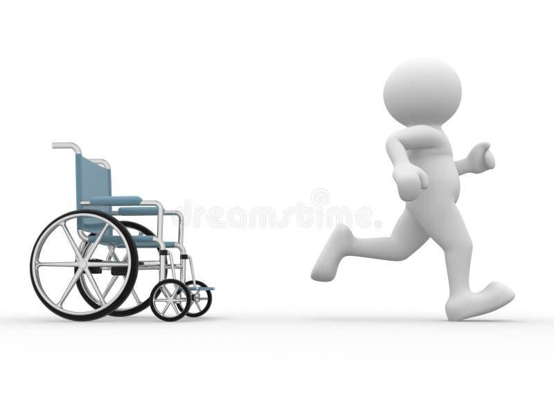 Sedia a rotelle. illustrazione vettoriale