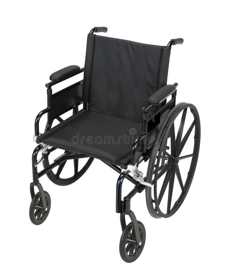 Sedia a rotelle isolata su bianco immagine stock libera da diritti