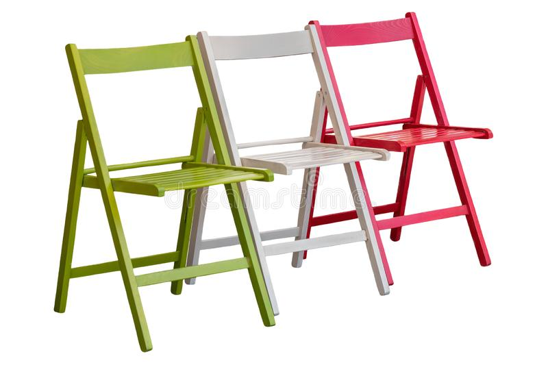 Sedia verde, bianca e rossa, come la bandiera italiana immagine stock