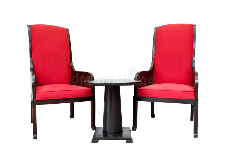 Sedie e tavola moderne fotografie stock libere da diritti