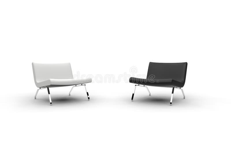 Sedie Moderne Bianche E Nere Fotografia Stock - Immagine di ...