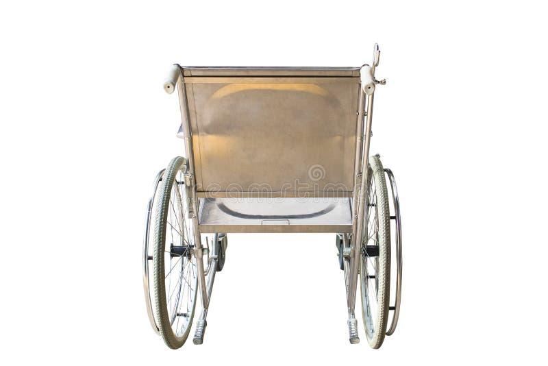Sedie a rotelle che aspettano i servizi con lo spazio della copia di luce solare fotografie stock