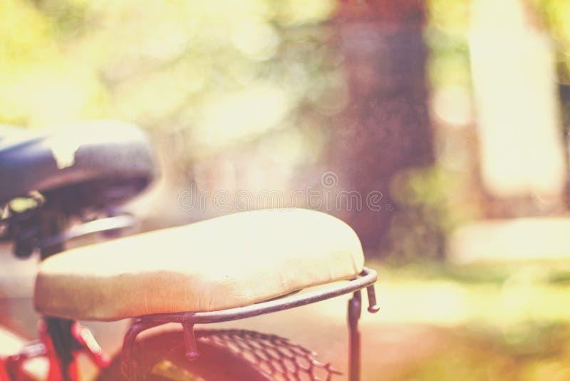 Sedile di bicicletta fotografia stock