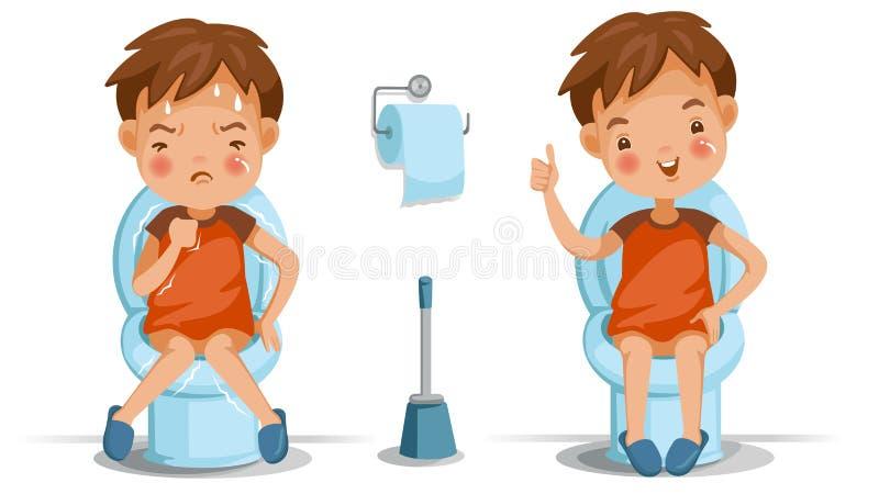 Sedile di toilette dei bambini illustrazione di stock