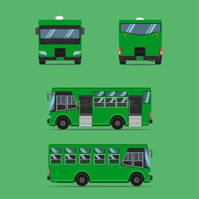 Sedile verde scuro tailandese della poltrona delle feci della sedia del banco della ferrovia della vettura di autobus di autobus  illustrazione vettoriale