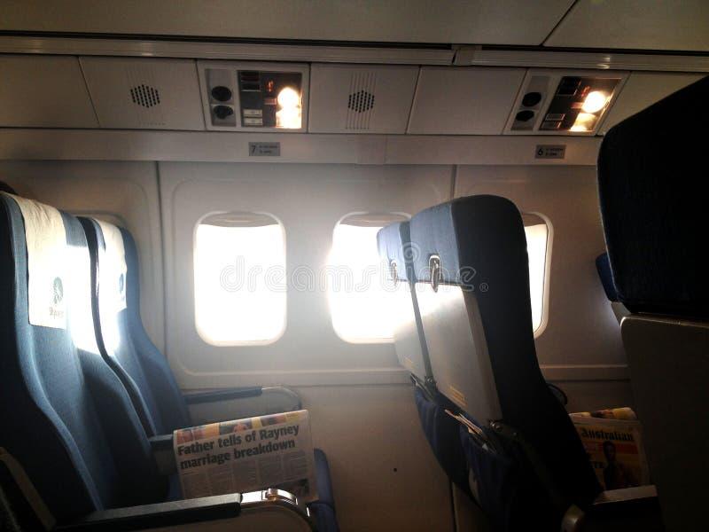 Sedili dell'aeroplano fotografia stock