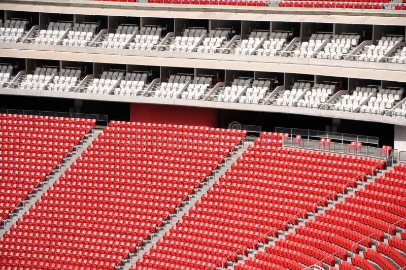 Sedili dello stadio fotografie stock libere da diritti