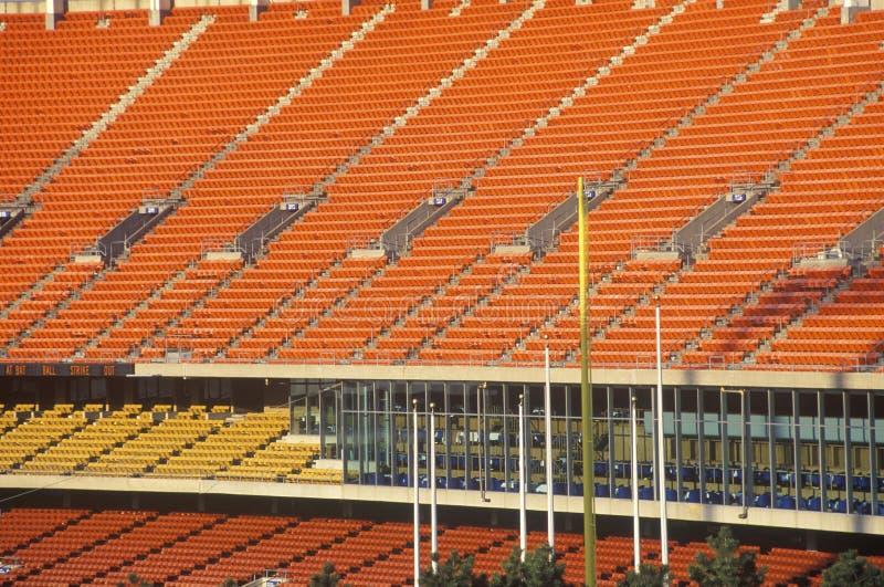 Sedili dello stadio di Major League fotografia stock libera da diritti