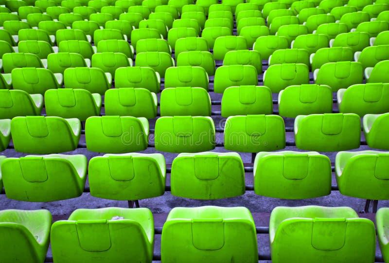 Sedili di calcio fotografia stock