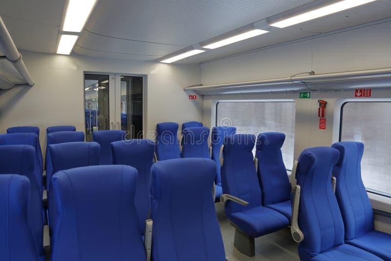 Sedili molli nel treno fotografia stock libera da diritti