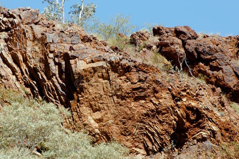 Sedimentaire Kneedbare Vouwen royalty-vrije stock afbeeldingen