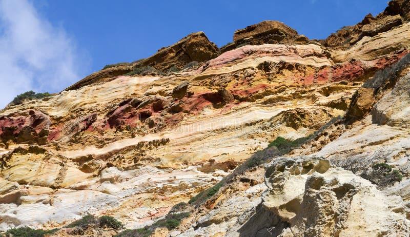 Sedimentary carbonate vaggar royaltyfri fotografi