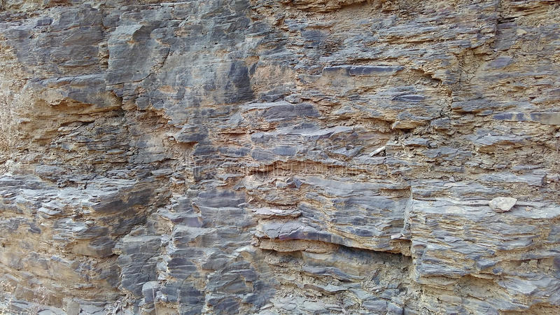 Sedimentary rock layers texture. And background stock photography