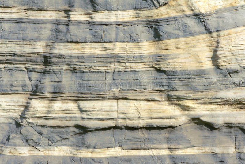 Sedimentary rocks. The background of sedimentary rocks stock photos