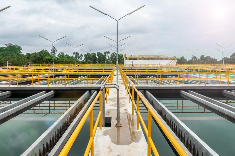 Sedimentation tank in Conventional Water Treatment Plant.  royalty free stock photo
