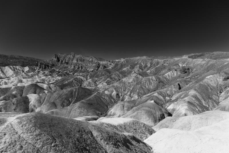 Sedimentgesteinbildungen in Nationalpark Death Valley stockbild