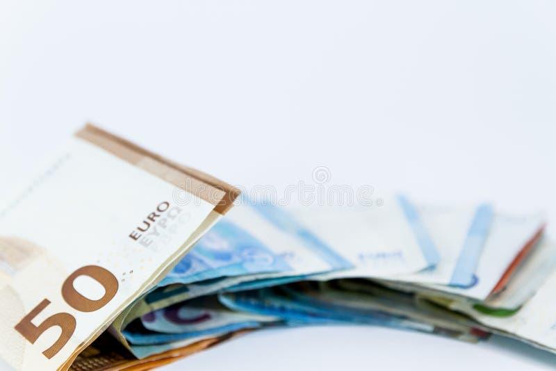 Sedlar för pengareurovärde med hänglåset, betalningsystem för europeisk union royaltyfria bilder