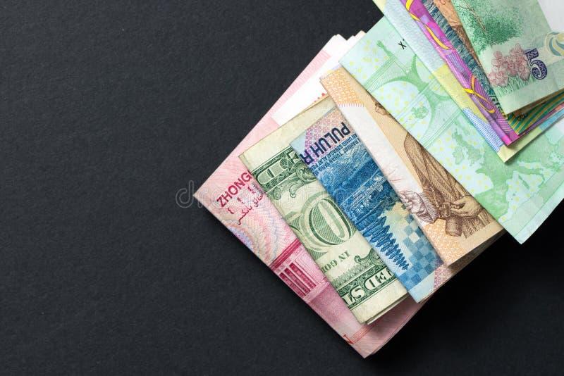Sedlar för utländsk valuta arkivbild