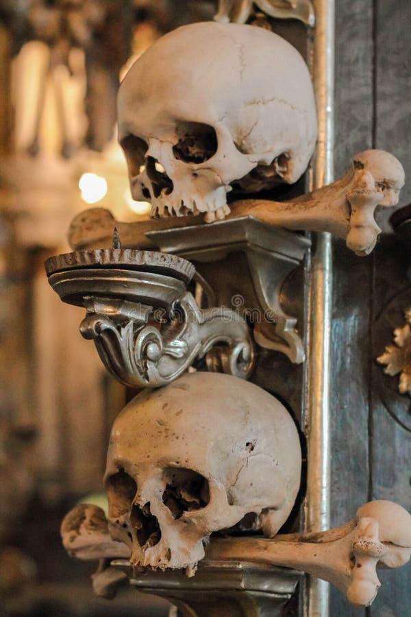Sedlec Ossuary w republika czech obrazy royalty free