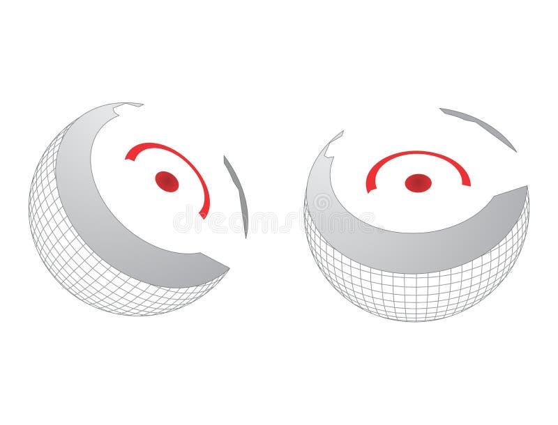 Download Sedno kula ziemska ilustracja wektor. Obraz złożonej z greenbacks - 28467395