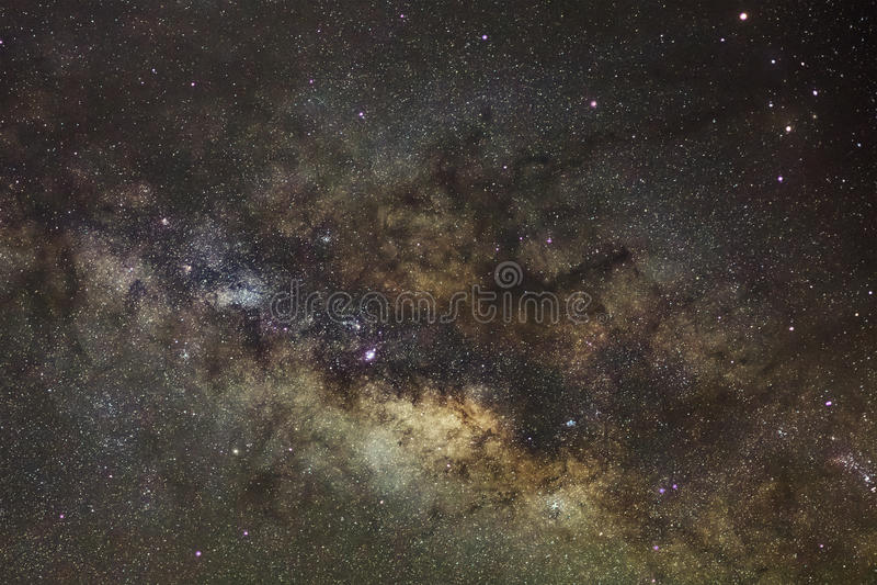 Sedno Milky sposób Galaktyczny centrum milky sposób fotografia stock
