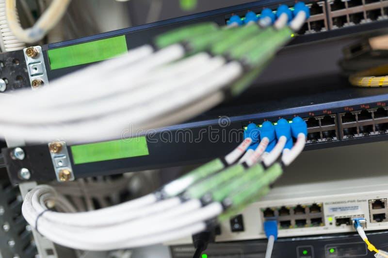 Sedno przełącznikowa technologia w sieci izbowym miejscu zdjęcie stock