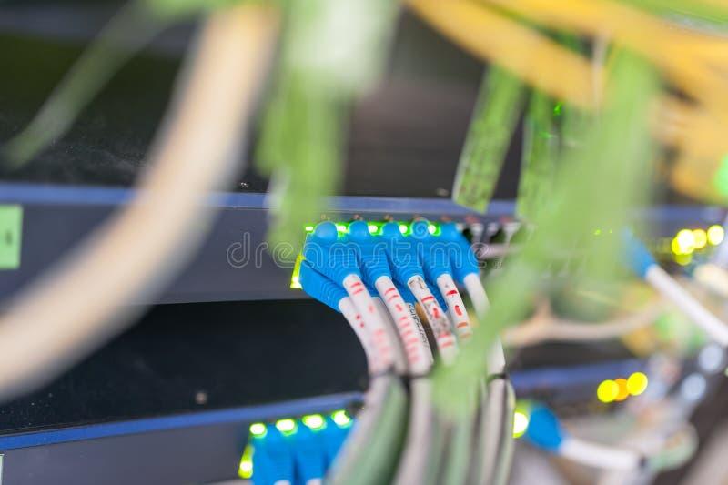 Sedno przełącznikowa technologia w sieci izbowym miejscu fotografia stock