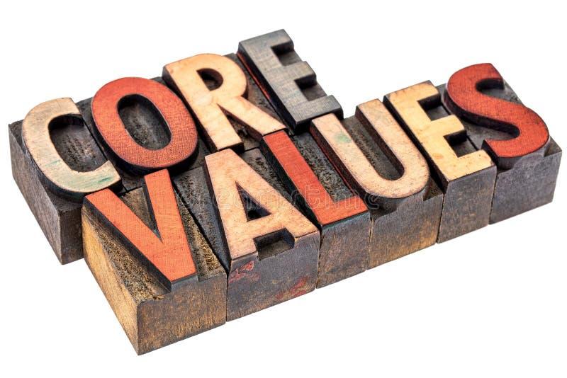Sedno wartości w rocznika drewna typ obrazy royalty free