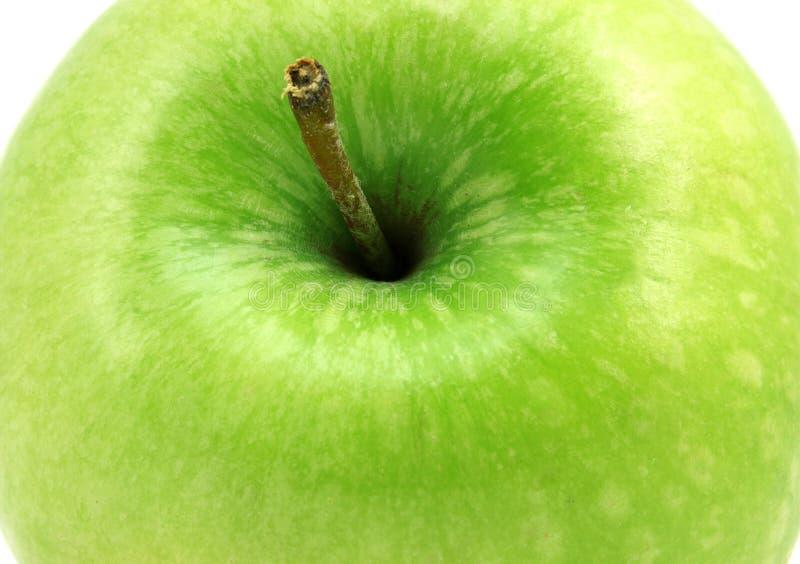 Sedno zielony jabłko obrazy stock