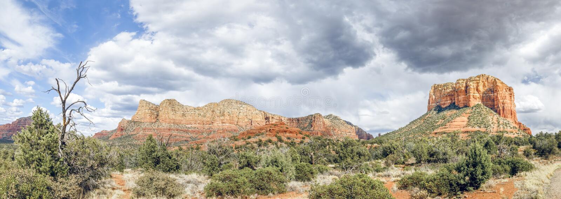 Sedona红色岩层-亚利桑那 库存照片