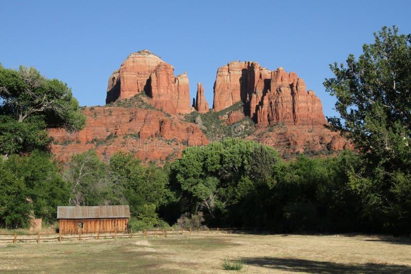 sedona βράχου καθεδρικών ναών τ&eta στοκ εικόνα με δικαίωμα ελεύθερης χρήσης