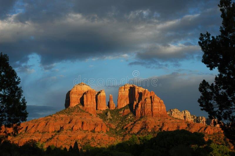 sedona βράχου καθεδρικών ναών AZ στοκ εικόνα