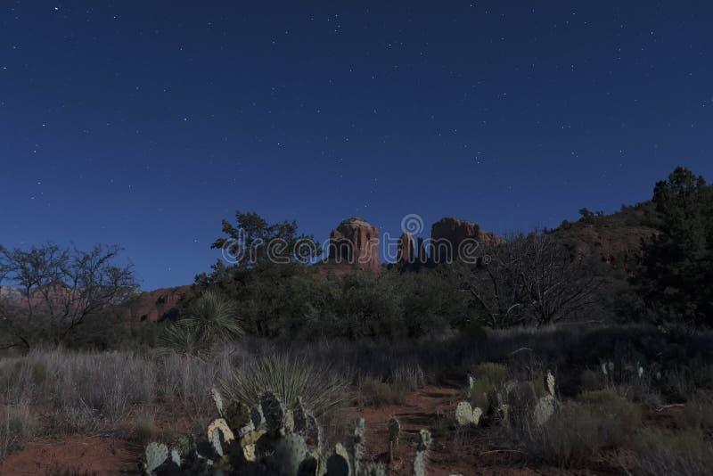 Sedona τη νύχτα στοκ εικόνα με δικαίωμα ελεύθερης χρήσης