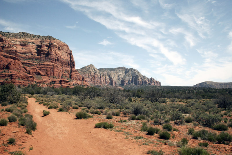 sedona гор пустыни Аризоны на запад одичалое стоковые фотографии rf