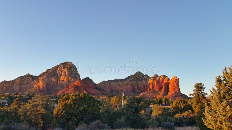 Sedona, утесы красного цвета Аризоны стоковые фотографии rf