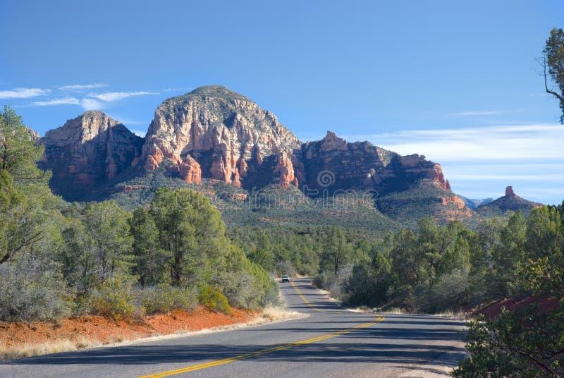 Sedona, Arizona road stock photo