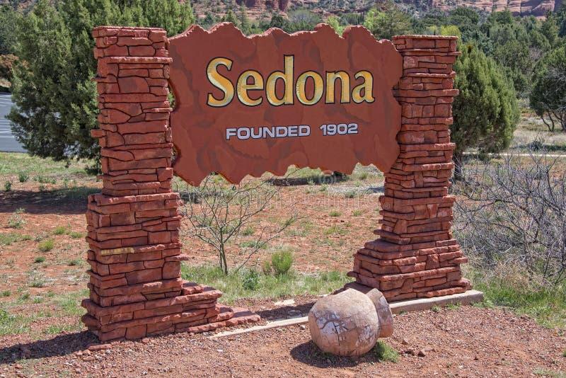 Sedona Arizona Sign royalty free stock photography