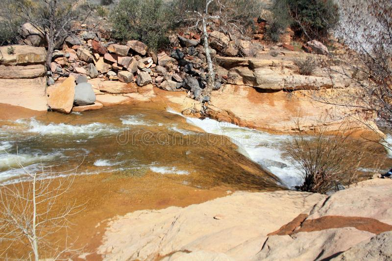 Sedona Arizona Slide rock state park royalty free stock photos