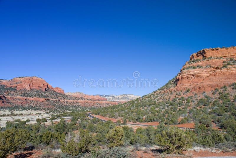 Sedona, Arizona-Straße stockbilder