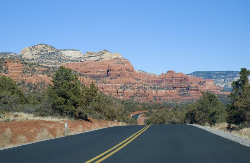 Sedona, estrada do Arizona fotografia de stock