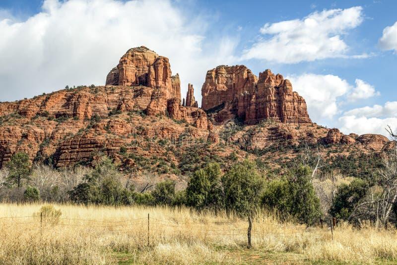 Sedona iglicy - katedry skała, Arizona fotografia royalty free