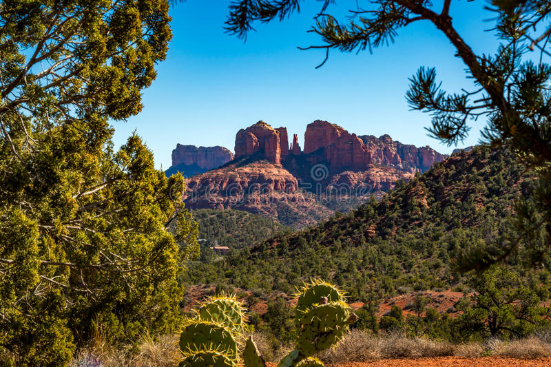 Sedona and Oak Creek Canyon Landscapes. Red rocks of Sedona and Oak Creek Canyon stock image