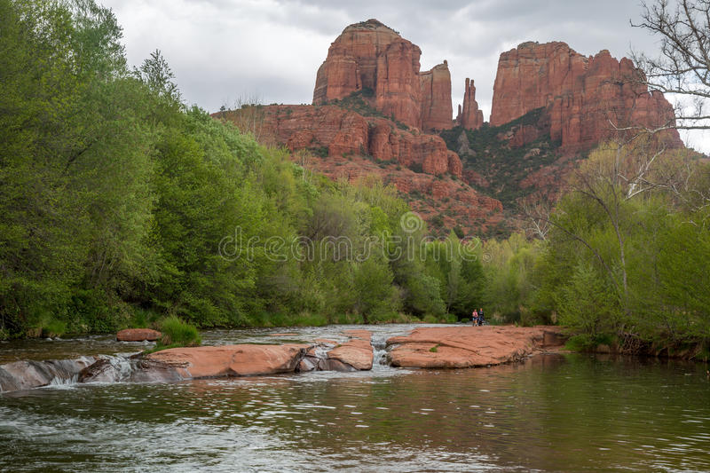 Sedona and Oak Creek Canyon Landscapes in spring. Red rocks of Sedona and Oak Creek Canyon royalty free stock photo