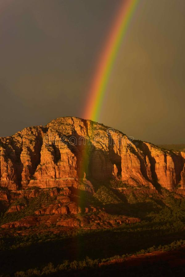 Free Sedona Red Rock Rainbow, Near Bell Rock And Vortexes Stock Photo - 157629270