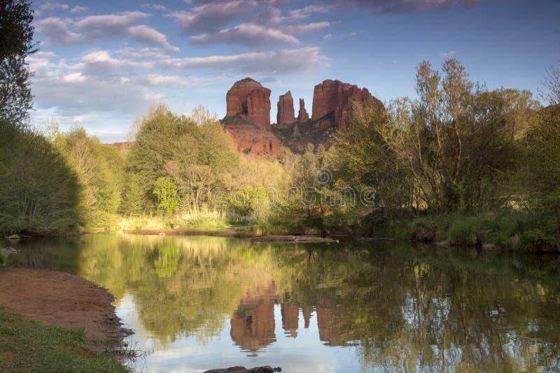 Sedona reflections stock photo